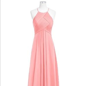 KF Bridal B14023 high neck bridesmaid dress